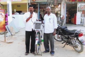 Portable microphones and motorbikes were donated to Pastors for their outreach ministries